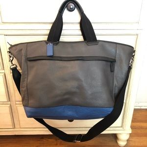 Coach Leather Weekender Tote
